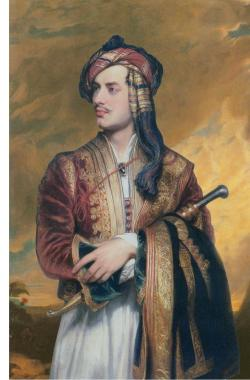 Lord Byron in Albanian dress, painted by Thomas Phillips in 1813
