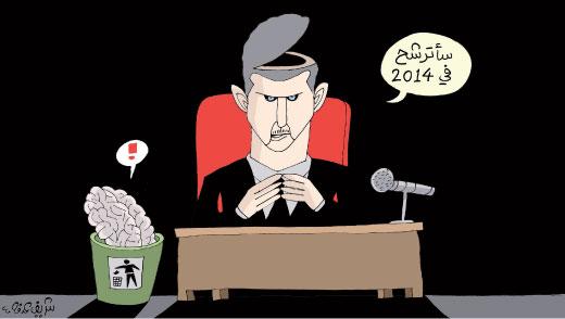 """B. al Assad: """"Je vais me présenter en 2014"""""""